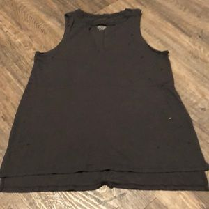 American Eagle Distressed Tank